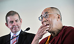 The Dalai Lama visits Parliament House for talks with Tony Abbott, and Members and Senators, Canberra,  Tuesday, 14th June, 2011. Photo: Mark Graham.