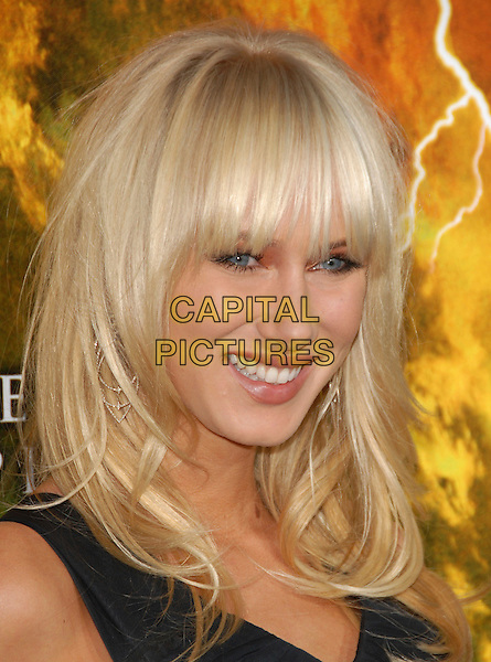 "KIMBERLEY STEWART .The Warner Brothers' Pictures L.A. Premiere of ""The Reaping"" held at The Mann Village Theatre in Westwood, California, USA..March 29th, 2007.headshot portrait Kimberly kimberly fringe bangs .CAP/DVS.©Debbie VanStory/Capital Pictures"