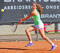 Netherlands, Rotterdam August 05, 2015, Tennis,  National Junior Championships, NJK, TV Victoria, Carmen  van Poelgeest<br /> Photo: Tennisimages/Henk Koster