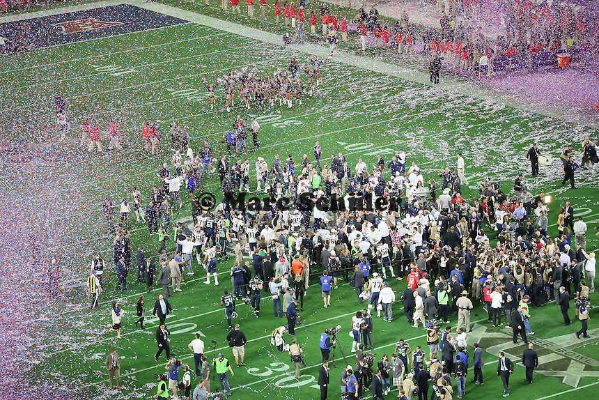 Siegesjubel New England Patriots - Super Bowl XLIX, Seattle Seahawks vs. New England Patriots, University of Phoenix Stadium, Phoenix