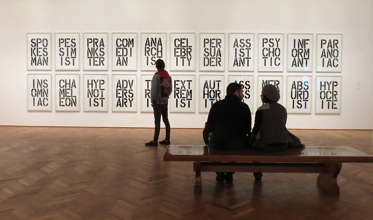 Chicago Scenes: The entrance to Christopher Wool's collection of abstracts and graphics on display at the Art Institute of Chicago. (http://www.artic.edu/exhibition/christopher-wool) (DePaul University/Jamie Moncrief)