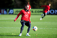 Pictured: Connor Roberts of Wales in action during the Wales Training Session at The Vale Resort in Cardiff, Wales, UK. Monday 11 November 2019