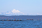 Port Townsend, Rat Island Regatta, Tuf As Nails; Wintech 8+, racing, Sound Rowers, Rat Island Rowing Club, Puget Sound, Olympic Peninsula, Washington State, water sports, rowing, kayaking, competition,