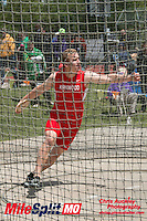 Kirkwood junior Reece Goddard won the discus with a 167-11 at the 2016 MSHSAA Class 5 District 2 Track and Field Meet at Ladue High School, St. Louis, Saturday, May 14.