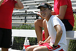 05 September 2009: UNLV head coach Kat Mertz. The Duke University Blue Devils played the University of Nevada Los Vegas Runnin' Rebels to a 0-0 tie after overtime at Koskinen Stadium in Durham, North Carolina in an NCAA Division I Women's college soccer game.