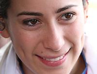 BOGOTA - COLOMBIA - 30-06-2013: Mariana Pajón, campeona Olimpica de BMX, durante competencia en Bogota, junio 30 de 2013. Se realiza en la Unidad Deportiva de El Salitre en la Pista Mario Soto la VI Y VII validas nacionales del Torneo de BMX, con la participación de mas  quinientos deportistas de las diferentes ligas del país, selectivo y preparatorio al Campeonato Mundial UCI BMX con sede en Nueva Zelandia (Foto:VizzorImage / Felipe Caicedo / Staff). Mariana Pajon, BMX Olympic Champion during competition in Bogota, June 29, 2013. It takes place in Sports Unit El Salitre, on Track Mario Soto la VI and VII valid BMX National Tournament, with the participation of over five hundred athletes from the different leagues in the country, selective and preparatory to UCI BMX World Championships based in New Zealand  (Photo: VizzorImage / Felipe Caicedo. Photo: VizzorImage/ Felipe Caicedo/ STAFF