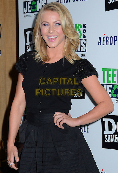 Julianne Hough.DoSomething.org and Aeropostale celebrate launch of 5th Annual 'Teens For Jeans'  at Palihouse, West Hollywood, California, USA..January 10th, 2012.half length black dress hand on hip top skirt .CAP/ADM/BT.©Birdie Thompson/AdMedia/Capital Pictures.