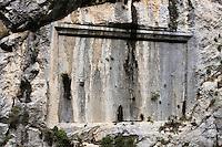 Europe/France/Provence-Alpes-Côtes d'Azur/06/Alpes-Maritimes/Alpes-Maritimes/Arrière Pays Niçois/ Env de Saorge: Plaque dans les Gorges de Saorge dans la Vallée de la Roya