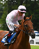 Wannabe Friends ridden by Shane Kelly goes down to the start during Ladies Evening Racing at Salisbury Racecourse on 15th July 2017