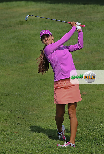 21 JUL 15 Spain's Belen Mozo enjoying the Wednesday Pro Am Round of The Meijer LPGA Classic at The Blythefield Country Club in Belmont, Michigan. (photo credit : kenneth e. dennis/kendennisphoto.com)