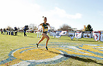 BROOKINGS, SD - OCTOBER 31:  Erin Teschuk from North Dakota State crosses the finish line in the 2015 Summit League Cross Country Championships at Edgebrook Golf Course in Brookings. (Photo by Dave Eggen/Inertia) (Photo by Dave Eggen/Inertia)