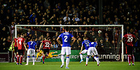 Everton's Gylfi Sigurdsson scores his side's second goal from the penalty spot, sending Lincoln City's Grant Smith the wrong way<br /> <br /> Photographer Chris Vaughan/CameraSport<br /> <br /> The Carabao Cup Second Round - Lincoln City v Everton - Wednesday 28th August 2019 - Sincil Bank - Lincoln<br />  <br /> World Copyright © 2019 CameraSport. All rights reserved. 43 Linden Ave. Countesthorpe. Leicester. England. LE8 5PG - Tel: +44 (0) 116 277 4147 - admin@camerasport.com - www.camerasport.com