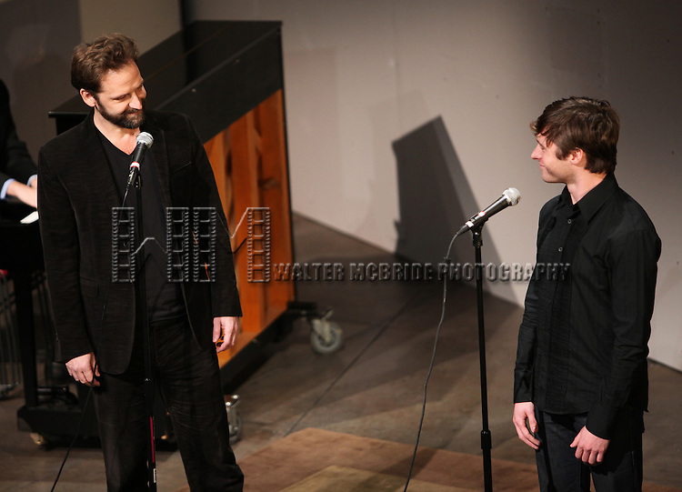 Malcolm Gets & Bobby Steggert.performing at Transport Group Theatre Company's An Evening with Michael John LaChiusa: Boys Night Out at  Playwrights Horizon in New York City