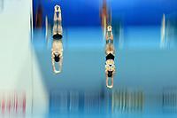 Tina Punzel, Lou Massenberg GER Germany Bronze Medal <br /> Gwangju South Korea 20/07/2019<br /> Mixed 3m Synchro Springboard Final <br /> 18th FINA World Aquatics Championships<br /> Nambu University Aquatics Center  <br /> Photo © Andrea Staccioli / Deepbluemedia / Insidefoto