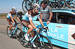 Tony Gallopin (FRA) AG2R La Mondiale at the team car during Stage 17 of the La Vuelta 2018, running 186.1km from Ejea de los Caballeros to Lleida, Spain. 13th September 2018.                   <br /> Picture: Unipublic/Photogomezsport | Cyclefile<br /> <br /> <br /> All photos usage must carry mandatory copyright credit (&copy; Cyclefile | Unipublic/Photogomezsport)
