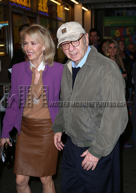 Elaine Joyce and Neil Simon  attends the Broadway Opening Night Performance of 'The Winslow Boy' at the American Airlines Theatre in New York City on October 17, 2013.