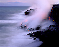 Kilauea lava as it flowing into the sea, Big Island of Hawaii
