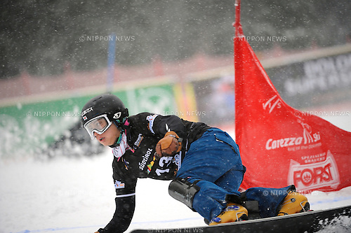 Tomoka Takeuchi (JPN), DECEMBER 16, 2014 - Snowboarding : FIS Snowboard World Cup Women's Parallel Giant Slalom in Carezza, Italy. (Photo by Hiroyuki Sato/AFLO) [2016]