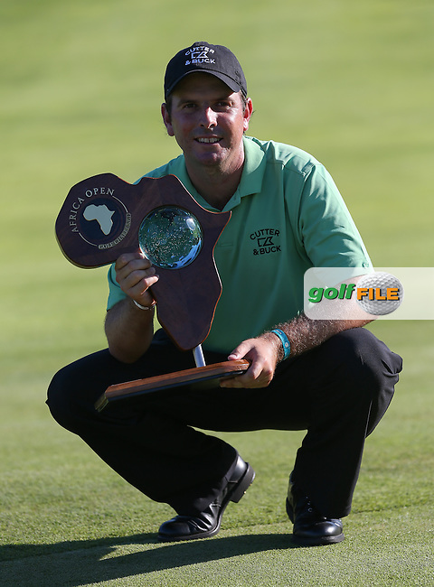 Thomas Aiken (RSA) wins the Final Round in a play-off against Oliver Fisher (ENG) at The Africa Open 2014 at the East London Golf Club, Eastern Cape, South Africa. Picture:  David Lloyd / www.golffile.ie