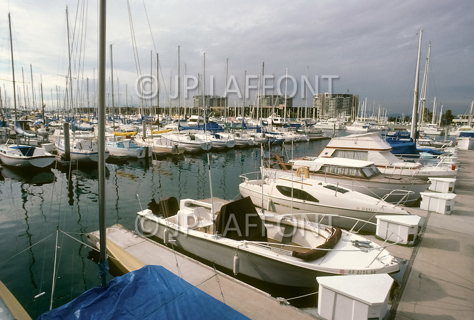 Venice Beach, California, U.S.A, March, 1980. Marina del Rey next to Venice Beach.
