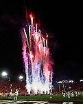 Fireworks prior to the start of the BCS national title game at the Rose Bowl in Pasadena, California on January 6, 2014.   The Florida State Seminoles defeated the Auburn Tiger 34-31 to win the final BCS National Championship.