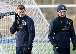 St Johnstone Training…05.02.19<br />Callum Hendry and Chris Kane pictured during training this morning at McDiarmid Park ahead of tomorrow's game at Hamilton<br />Picture by Graeme Hart.<br />Copyright Perthshire Picture Agency<br />Tel: 01738 623350  Mobile: 07990 594431