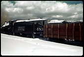 #483 K-36 with gondola #801 in Chama.<br /> C&amp;TS  Chama, NM