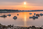 Sunrise on Prospect Harbor, Gouldsboro, Maine, USA
