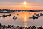 Sunrise on Prospect Harbor, Gouldsboro, Maine, USA