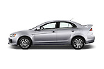 Car Driver side profile view of a 2016 Mitsubishi Lancer Intense 4 Door Sedan Side View