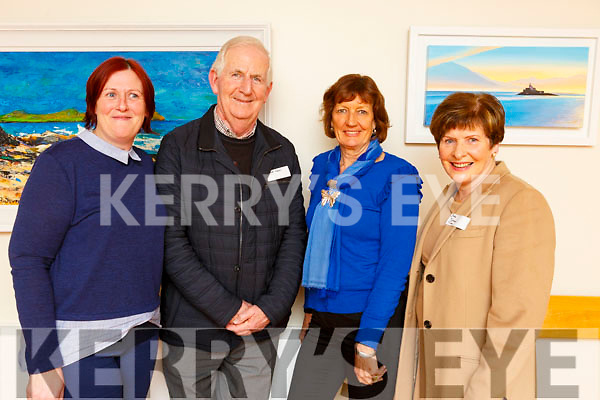 Attending the Kerry Hospice Foundation's AGM in UHK on Monday night, l-r, Breda O'Sullivan (Killorglin Hospice), Cathal Walsh (Killarney Hospice), Kay Woods (Killorglin Hospice) and Bridie O'Connor (Tralee Hospice)