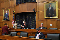 Committee members prepare for a House Committee on Foreign Affairs hearing looking into the firing of State Department Inspector General Steven Linick, on Capitol Hill in Washington, D.C. on Wednesday, September 16, 2020.  <br /> Credit: Kevin Dietsch / Pool via CNP /MediaPunch