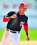 14 March 2010: Washington Nationals' shortstop Ian Desmond on the basepath during a Spring Training game against the St. Louis Cardinals at Space Coast Stadium in Viera, Florida. The Cardinals defeated the Nationals 7-3 in Grapefruit League action. Mandatory Credit: Ed Wolfstein Photo