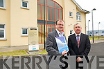 Tadhg Beary, Wind Prospect Irl. Ltd and Ogie Moran, Shannon Development pictured outside the Listowel Business  Development Centre.