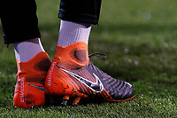The boots of Ryan Sessegnon of Fulham FC seen during the Sky Bet Championship match between Fulham and Sheff United at Craven Cottage, London, England on 6 March 2018. Photo by Carlton Myrie.