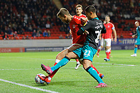 Yan Dhanda of Swansea City (R) during the Sky Bet Championship match between Charlton Athletic and Swansea City at The Valley, London, England, UK. Wednesday 02 October 2019