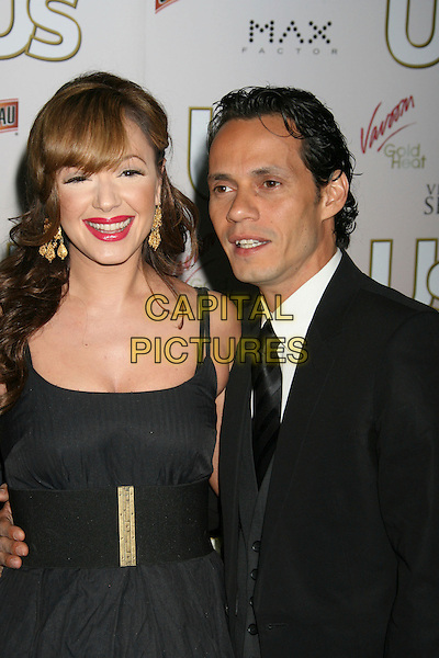 LEAH REMINI & MARC ANTHONY.US Weekly Presents Us' Hot Hollywood 2007 held at Sugar,  Hollywood, California, USA..April 26th, 2007.half length gold earrings pink lipstick dress.CAP/ADM/RE.©Russ Elliot/AdMedia/Capital Pictures