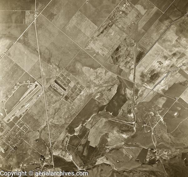 historical aerial photograph Irvine, California, 1947