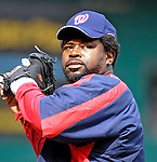 19 May 2007: Washington Nationals first baseman Dmitri Young warms up prior to facing the Baltimore Orioles at RFK Stadium in Washington, DC. The Orioles defeated the Nationals 3-2 in the second game of the 3-game interleague series...Mandatory Photo Credit: Ed Wolfstein Photo