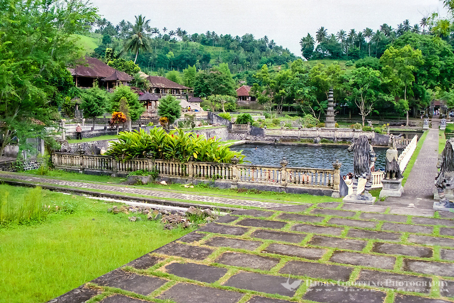 Bali, Karangasem. The Tirta Gangga water palace. Inside the palace there are two bathing pools open for the public. This one is for the locals, to the left of this there is a pool open for tourists.