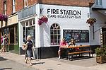 Fire Station cafe roastery bar, Woodbridge, Suffolk, England, UK