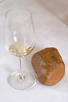 Wine glasses. Chateau Nairac, Barsac, Sauternes, Bordeaux, France