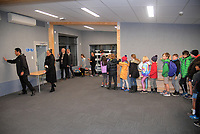 The new classroom is blessed at Berhampore School in Wellington, New Zealand on Wednesday, 12 June 2019. Photo: Dave Lintott / lintottphoto.co.nz