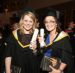19/1/2015   (with compliments)  Attending the University of limerick conferrings on Monday afternoon were rachel King, Newmarket on Fergus, Co. Clare and Clare Hartnett, Cappagh, Co. Limerick both conferred with an MSc Human Resource Management.  Picture Liam Burke/Press 22