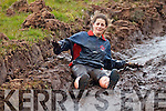 Lorraine Casey from Portmagee really enjoying herself at the Portmagee Hell Mountain Challenge on Saturday.
