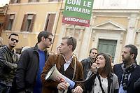 Roma, 26 Novembre 2012.Via dell'Umiltà.Militanti del PDL manifestano davanti la sede del PDL per chiedere le primarie nel centro destra..Chiara Colosimo
