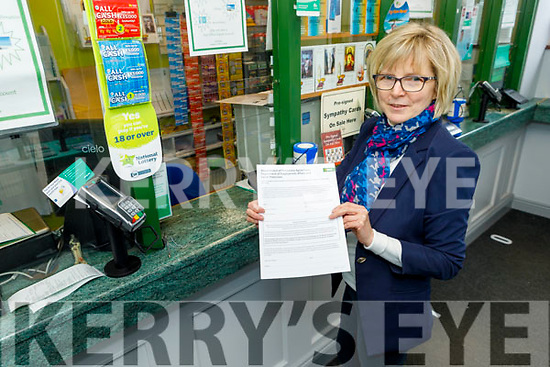 Marie Williams of the Rock Street Post Office on Monday