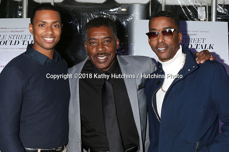"LOS ANGELES - DEC 4:  Arrington Foster, Ernie Hudson, Miguel A Nunez Jr at the ""If Beale Street Could Talk"" Screening at the ArcLight Hollywood on December 4, 2018 in Los Angeles, CA"
