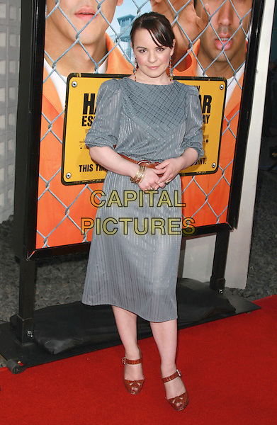 "JENNA VON OY.""Harold and Kumar Escape From Guantanamo Bay"" Los Angeles Premiere held at the ArcLight Cinerama Dome Theatre, Hollywood, California, USA, 17 April 2008..full length grey gray dress brown belt .CAP/ADM/`CH.©Charles Harris/Admedia/Capital PIctures"