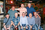 Ex Denny Workers get together at the Huddle Bar on Friday were front l-r Jimmy Doyle, Noel Lawlor, Neilus Boyd, Tom O'Donnell, Danny Horan Back l-r Padraig Casey, Andrew Boyle and Anthony McCrohan